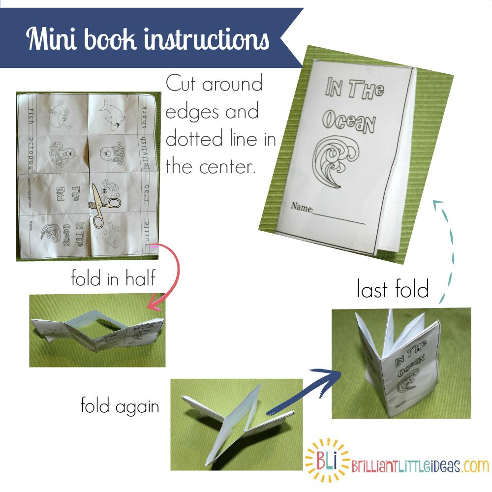 How to fold a mini book