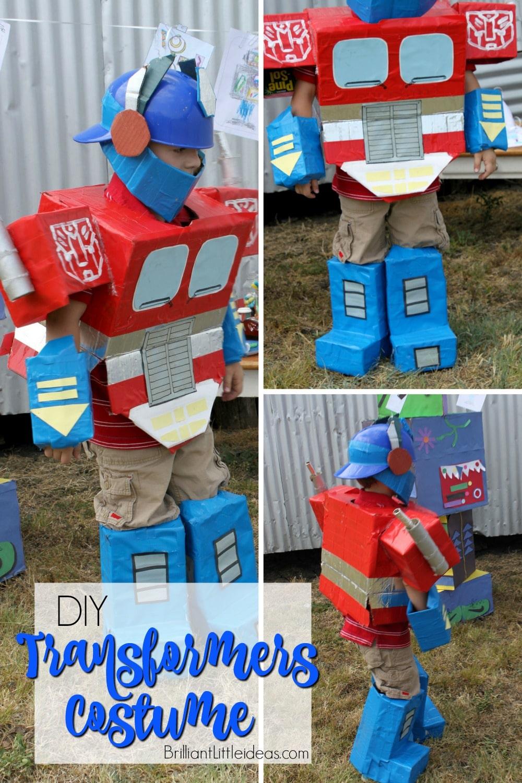 Diy Optimus Prime Transformer Costume Brilliant Little Ideas