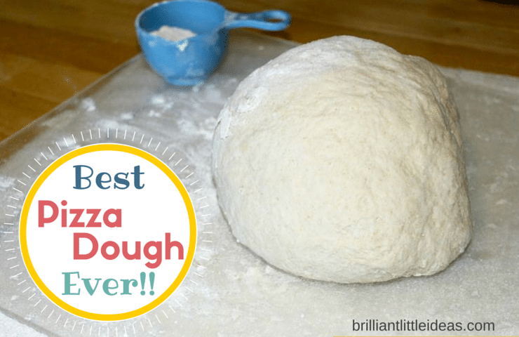 Need the Best Pizza Dough recipe! Fast & easy for make your own pizza night. Call it New York pizza, Chicago pizza, but I call it the Best Pizza Dough Ever!