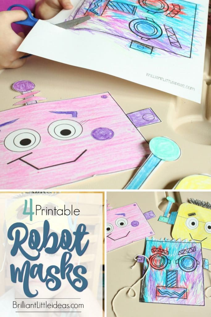 Free Printable 4 Fun Robot Masks for Kids. Great activity for kids. Brilliant robot role play idea or weekly theme. Enjoy this simple craft for kids.