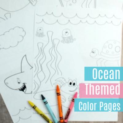 5 Ocean Theme Color Pages