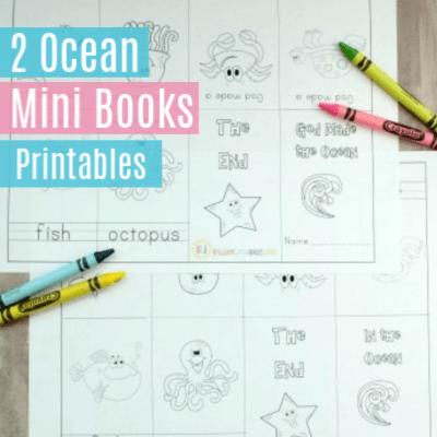 2 Ocean Theme Mini Books