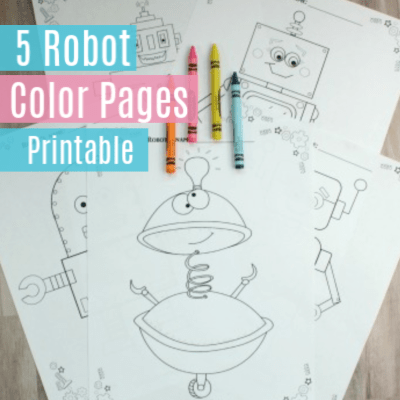 5 Free Robot Color Pages