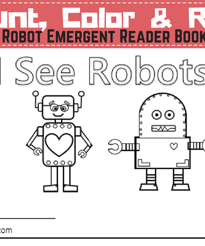 2 Robot Emergent Reader Books