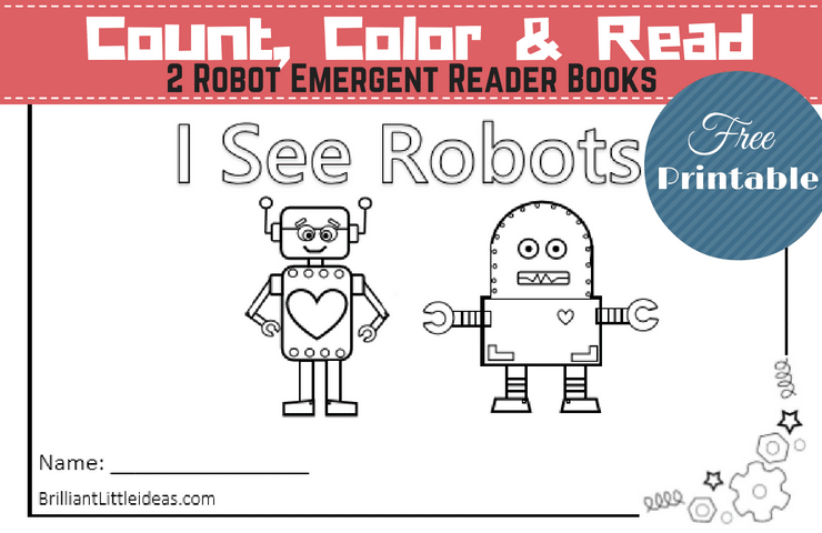 2 Robot Emergent Reader Books