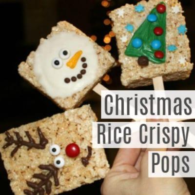 Simple Christmas Rice Crispy Pops