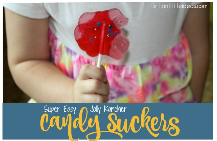 Look at these Super Easy Jolly Rancher Candy Suckers. Isn't it the cutest diy sucker recipe for kids. Kids love homemade lolipops. leftover candy