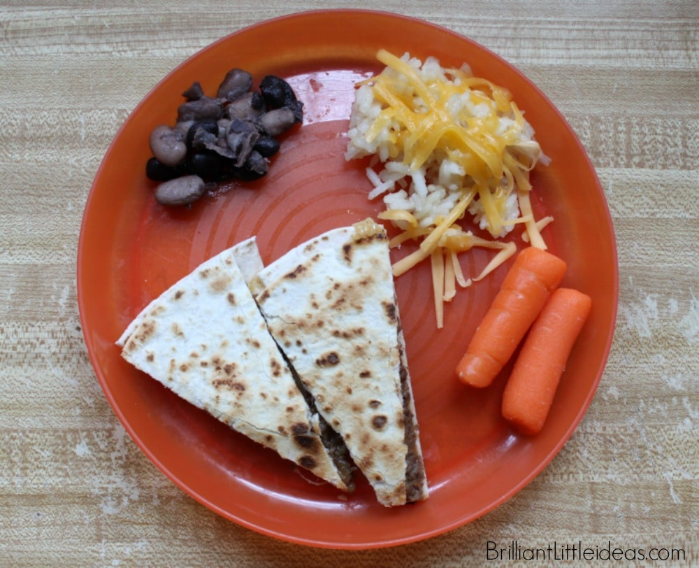 Easy Peasy Beef Quesadillas, easy kid food, kids cook, kid recipe, kid mexican food, quick dinner, daycare kid food, childcare kid food ideas
