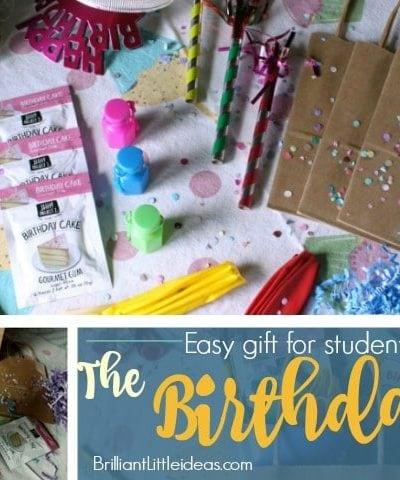 The Birthday Bag is an cheap gift for your students or Sunday school or daycare kids that make them feel special. quick gift, easy gift, for kids