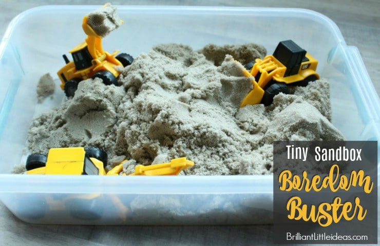 Tiny Sandbox Boredom Buster is sure to keep your kids busy on the rainy, or hot days. This is a great boy birthday gift or girl birthday gift for any age.