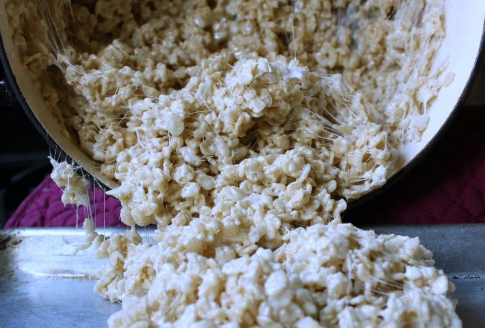 Soft gooey sugary heaven. The Perfect Rice Crispie Treats are the best rice Krispies treats ever! Kid and mom approved sack great for potlucks too!