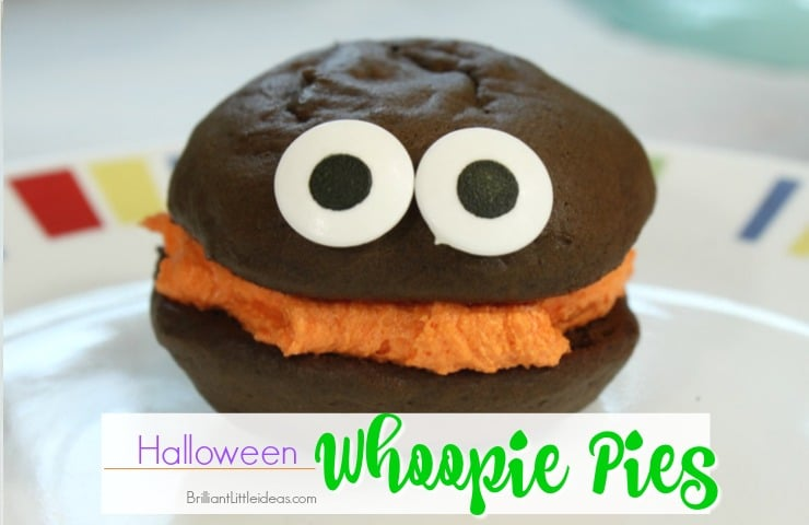 Halloween Whoopie Pies make the best treats! These are so yummy seriously the Best Whoopie Pies ever! Kids love Halloween snacks and treats in their lunch.