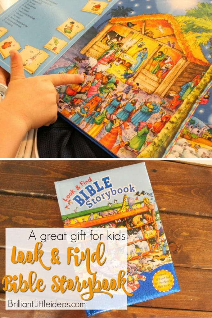 What a great kid gift! Im going to buy this book for all my kids Christmas presents. The Look & Find Bible Storybooks is a great kid book for boys & girls.