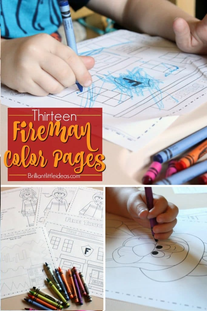 Super cute free printable fire dept color sheets for kids. Fireman color pages are great for kids who love firetrucks. Fire department, fireman, firewoman.