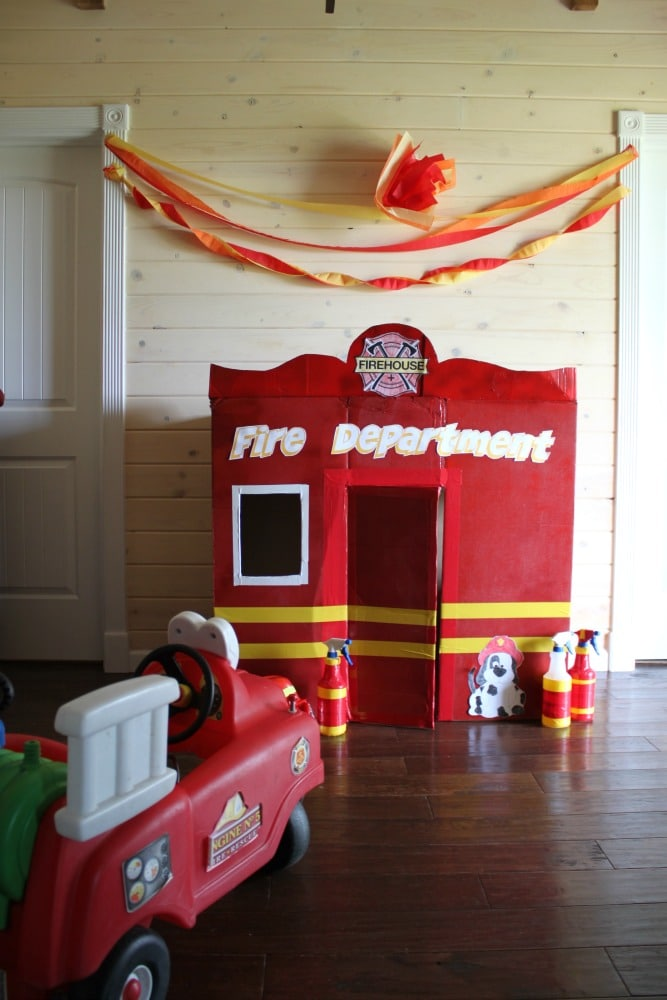 Your kids will love this DIY Fire Station with Printables. Great for a Fireman Theme Birthday or Fireman roleplay day to keep your kids busy for hours!