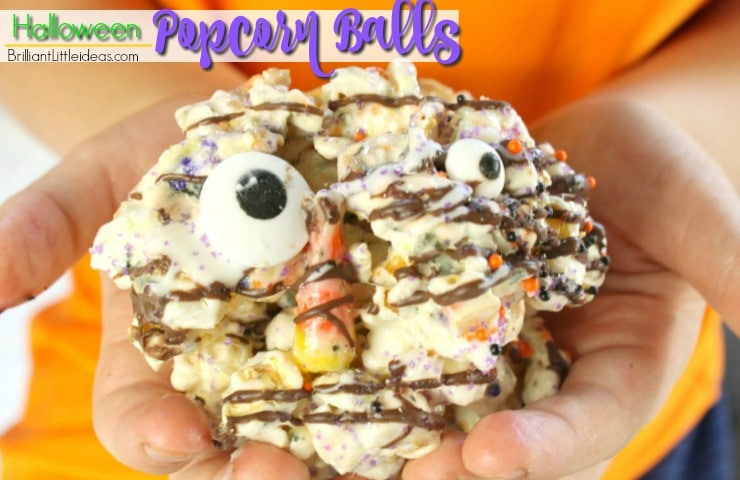 Do you have marshmallows, and popcorn? Kids are always wanting to cook so try these Easy Halloween Popcorn Balls together. #halloween #kidfood