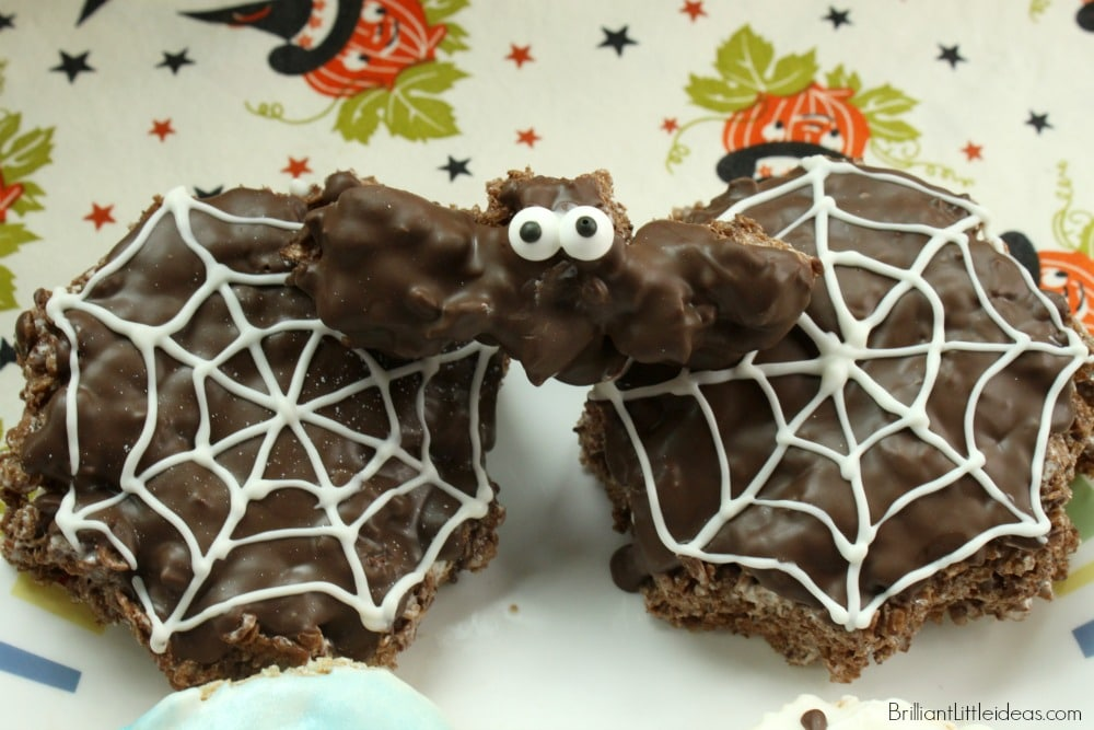 Oh my gosh, these are so easy! Try the Simple Spooky Halloween Treats for your kids. A Rice krispie Treat on a stick is a great idea for school parties too.