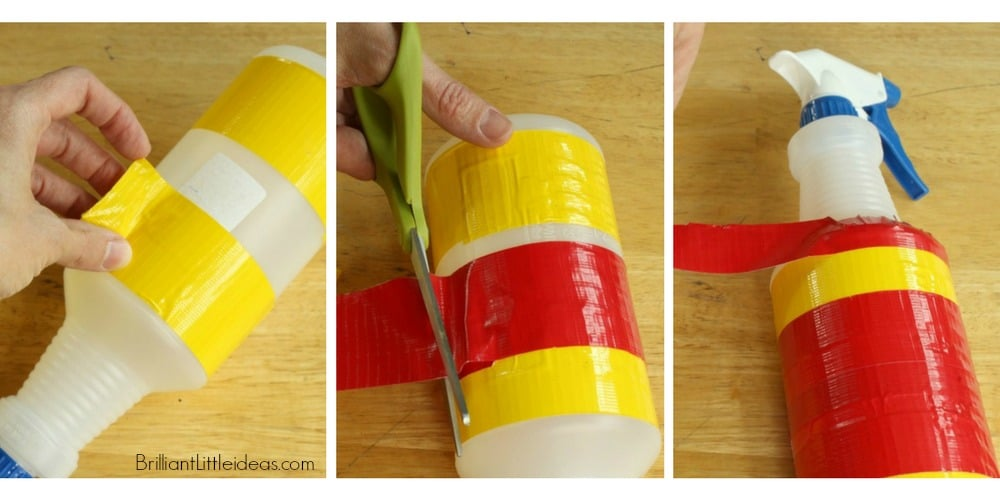 Such a cute & easy fireman craft of kids. Make your own fun with these DIY Fire Extinguishers. Fun Fireman duct tape craft for kids to make & role play.