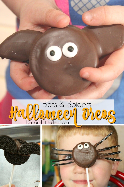 Bats & Spiders Halloween Oreos | Brilliant Little Ideas