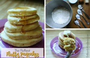 Craving homemade pancakes? Try this Easy Fluffy Pancakes for Kids. This recipe is a freezer friendly breakfast that we cant live without at my house.