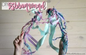 Ever wanted to know how to make a ribbon wand? Watch this DIY Ribbon wand video & your kids will dance & play fairy princess for hours IE quiet time for you