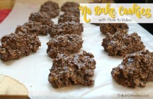 These are my favorite go to potluck dessert for gatherings. Chocolate No Bake Cookies are loved by kids & adults so make a big batch. #thanksgiving #potluck