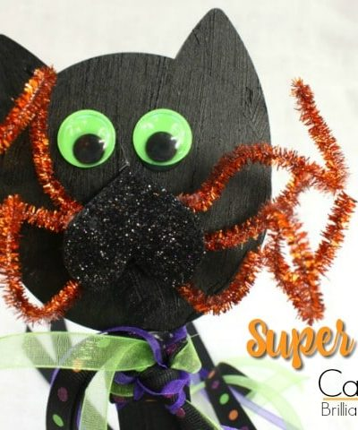 Black cats, spiders, witches and wands! Watch the How To Video and see how Super Easy this kid craft Cat Wand really is. Halloween fun!