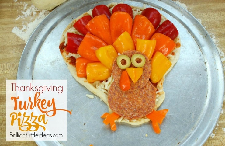 Fun Thanksgiving Turkey Pizza for Kids