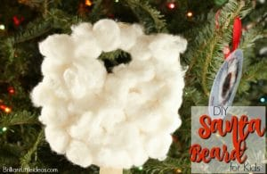 Your kids will love making their own Santa beard for Christmas. Choose from 3 printable sizes. Great Christmas craft for classrooms. #Christmas #kidfun