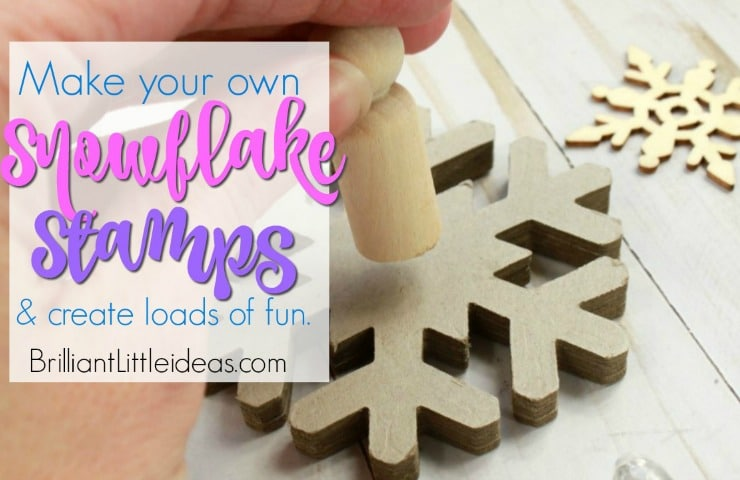 DIY Snowflake Stamps are excellent for preschool hands. Watch the video tutorial for an easy how to look on how to make your own stamps. Let your kids decorate brown paper and wrap presents for a cute homemade look. or just let your kids craft away with stamping everything in sight.