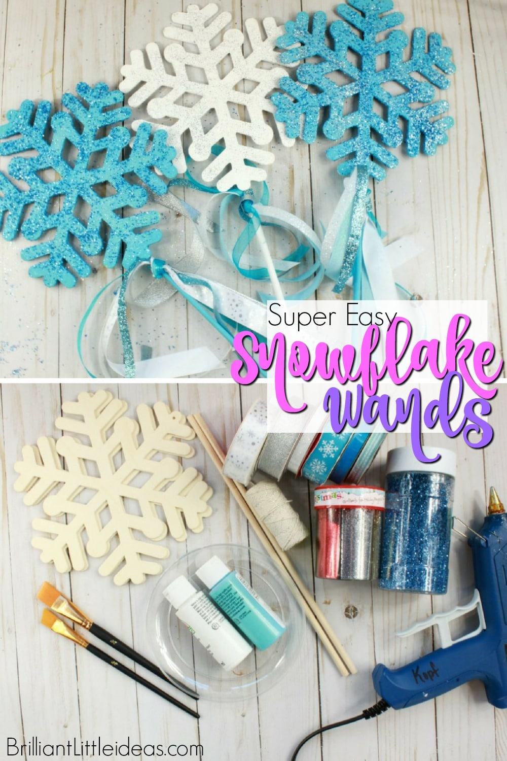 Diy snowflake wands brilliant little ideas for Birthday wand