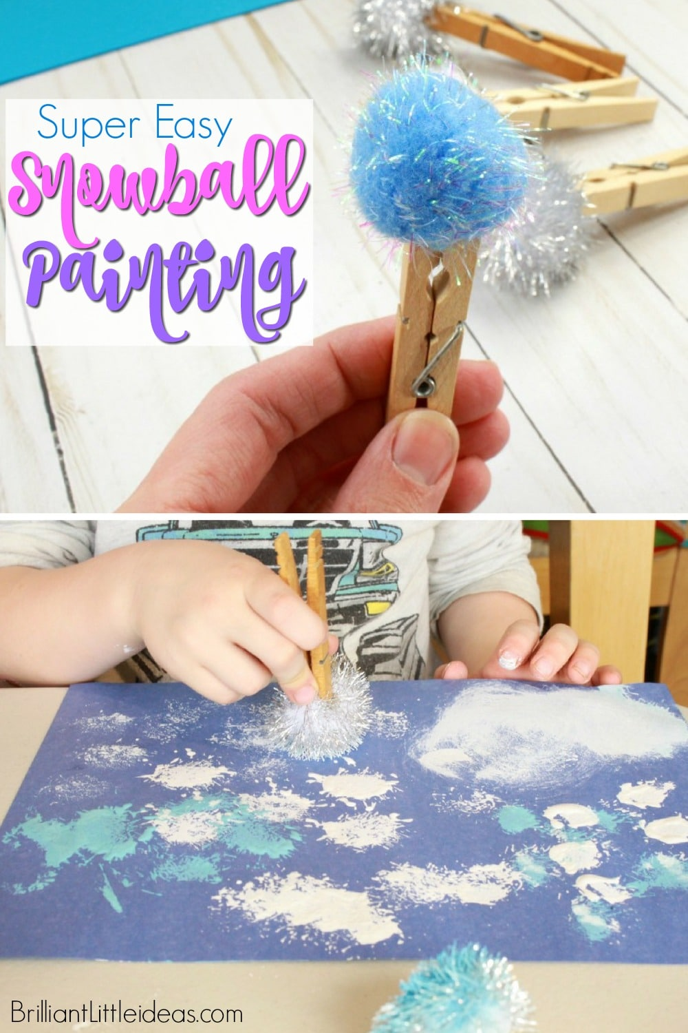 Super Easy Snowball Painting Brilliant Little Ideas