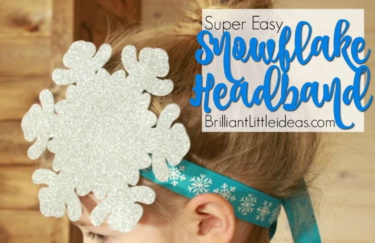 Preschool and big kids will love this Super Easy Snowflake Headbands. Looks great with your Frozen Elsa Costume. Fun ideas for birthday parties party favor or pretend play with friends. watch the how to diy video to create your own with ribbon and a foam snow flake.