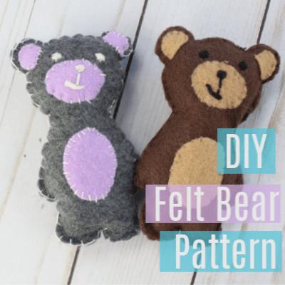 DIY Felt Bear Pattern for Kids