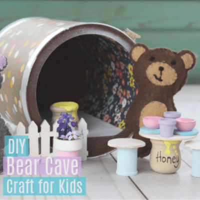 Portable Bear Cave Craft for Kids -Formula Can Idea