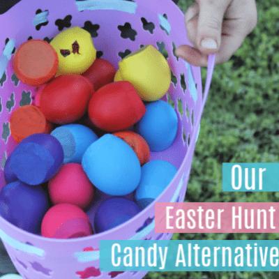 Our Easter Egg Hunt Candy Alternative-No Candy Easter Egg Hunt
