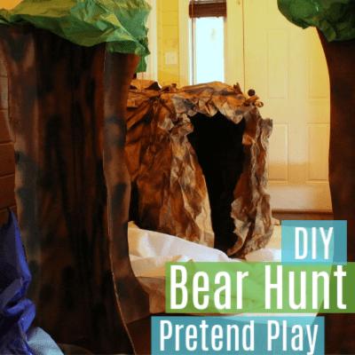 DIY Going on a Bear Hunt Role Play Theme