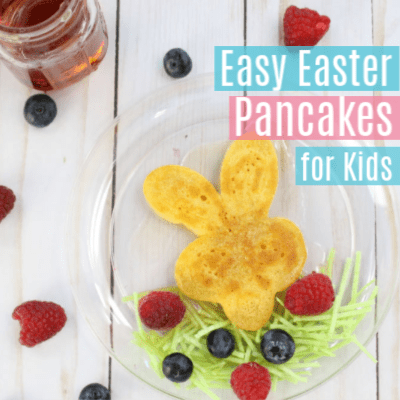 Easy Easter Pancakes for Kids with Edible Grass