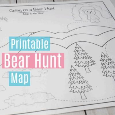 Going on a Bear Hunt Printable Map