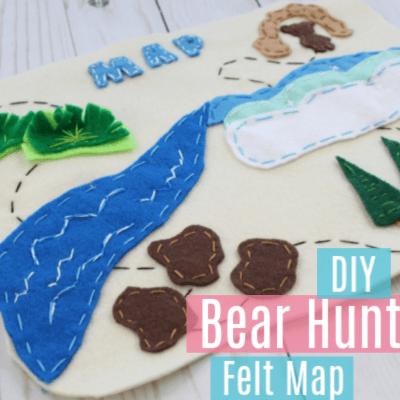 Going on a Bear Hunt DIY Felt Map with Printable