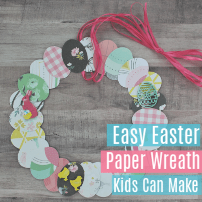 Easy Easter Paper Wreaths for Kids