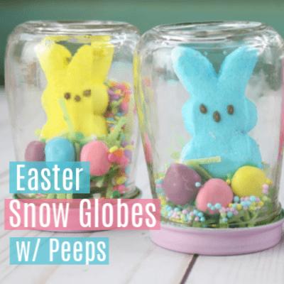 Edible Bunny Peeps Easter Snow Globe