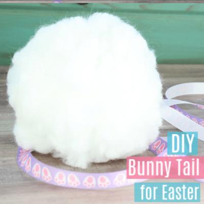 Easy DIY Bunny Tail