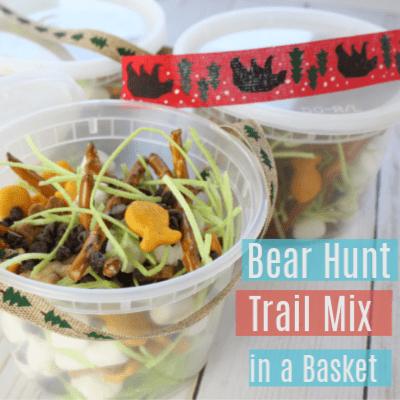 Bear Hunt Trail Mix & DIY Basket