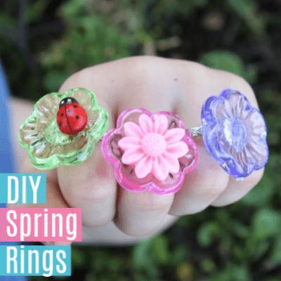 DIY Spring Rings for Kids -Easy Way to Make Rings
