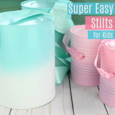 How to Make Stilts for Kids -with Formula Cans