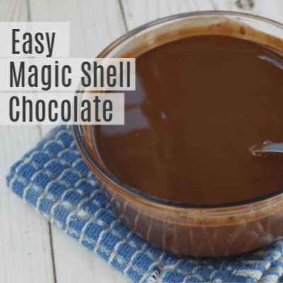 Homemade Magic Shell Chocolate Recipe -Hard Shell Ice Cream