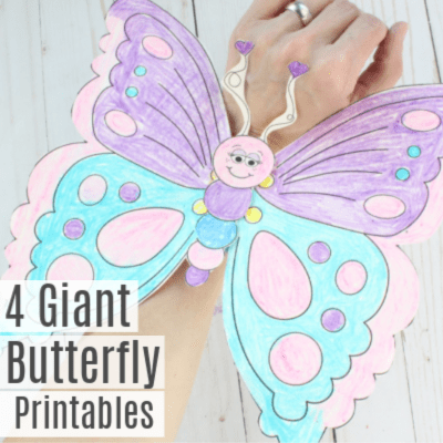 4 Giant Butterfly Wing Printables -Wearable Craft for Kids