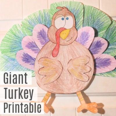 Giant Thanksgiving Turkey Printable