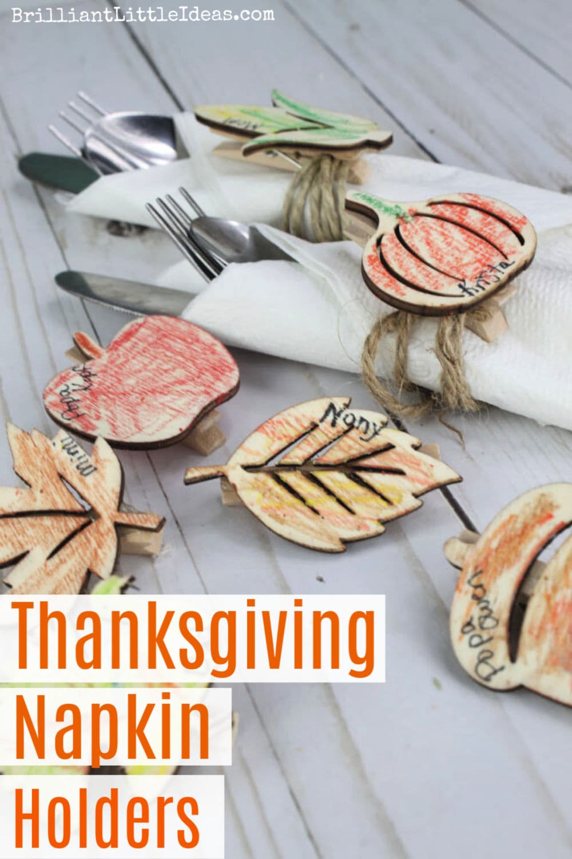 Easy Thanksgiving Napkin Holders Kids Can Make Brilliant Little Ideas
